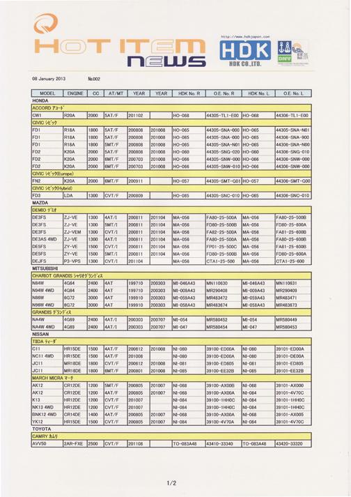 HDK HOT ITEM news 2013 002
