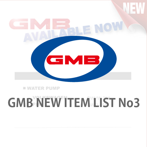 GMB NEW ITEM LIST No3