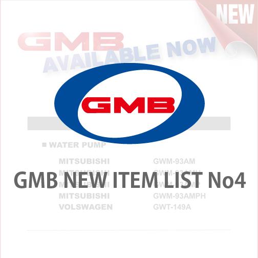 GMB NEW ITEM LIST No4