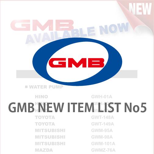 GMB NEW ITEM LIST No5
