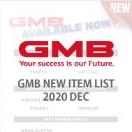 GMB NEW ITEM LIST 2020 DEC
