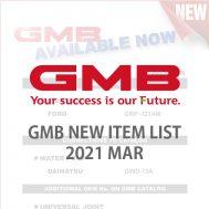 GMB NEW ITEM LIST 2021 MAR