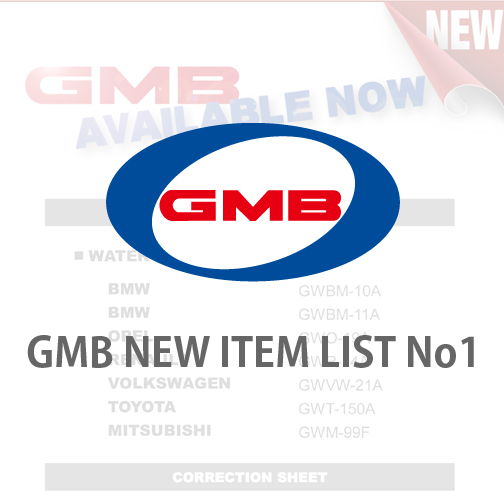 GMB NEW ITEM LIST No1