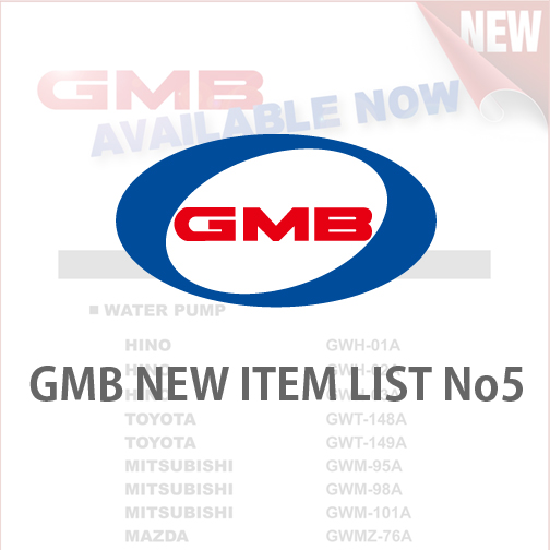 GMB NEW ITEM LIST No5