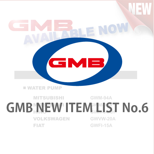 GMB NEW ITEM LIST No.6
