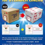 TPR 실린더 라이너의 새로운 포장 디자인