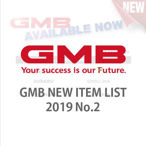 GMB NEW ITEM LIST 2019 No.2